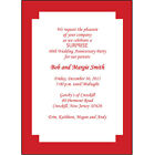 25 Personalized 40th Wedding Anniversary Party Invitations AP 004