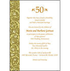 25 Personalized 50th Wedding Anniversary Party Invitations AP 011