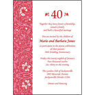 25 Personalized 40th Wedding Anniversary Party Invitations AP 013