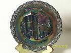 VINTAGE COLLECTORS PLATE FENTON CARNIVAL GLASS 1971 CHRISTMAS IN AMERICA NO.2