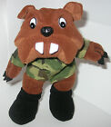 US MARINES COLLECTIBLE MILITARY CAMOUFLAGE BULL DOG STUFFED ANIMAL PLUSH CAMO