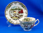 Johnson Brothers THE FRIENDLY VILLAGE Flat Cup and Saucer Set 2.375 in ICE HOUSE