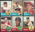 LOT OF 13 1963 TOPPS TOUGH SERIES VG EX BOOK VALUE $325.00