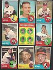 LOT OF 9 1963 TOPPS HIGH SERIES VG EX BOOK VALUE - $135