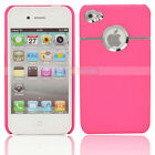New Round Hole Plastic Hard Case for iPhone 4 4G 4s 4Gs Pink