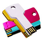 USB 2.0 Metal Key Flash Memory Drive Thumb Design 1GB 2GB 4GB 8GB 16GB