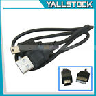 New USB 2.0 A to B Mini 5 Pin Cable Cord for PC Digital Camera