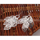925 sterling silver ear hook Leaf-shaped dangle Earring