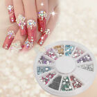 12 Colors Multi-color Shine Diamond Wheel Tips Nail Art Decoration Rhinestones