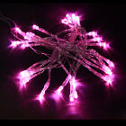 Pink 30 LED AAA Battery Operated Outdoor String Light