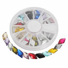12 Colors Wheel Nail Art Decoration Shine Diamond Manicure Rhinestones