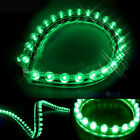 Lot 10 24CM 24LED Strip Car Auto Waterproof Flexible Grill 12V Green