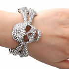 Exquisite Unique Skeleton Rhinestone Bangle Bracelet