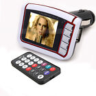 "1.8"" LCD Car MP3 MP4 Player Wireless FM Transmitter SD MMC Remote White"
