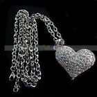 Stylish Charming Multi-rhinestone Heart Necklace