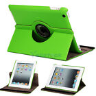 New 360 Magnetic Smart Cover Leather Case Rotating Stand for Apple iPad 2 Green