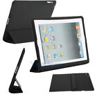 New Smart Cover Magnetic Case Stand Wake Up Sleep Leather for iPad 2 Black