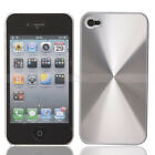 New Silver plastic hard case with aluminium film Cover for iPhone 4 4G
