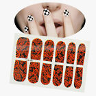 12pcs Nail Art Fashion Sticker Colorful Manicure Decoration Black and Red