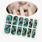 12pcs Nail Art Fashion Sticker Colorful Manicure Decoration Black and Blue