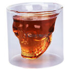 Lot 2 New Crystal Skull Head Vodka Shot Glass Drinking Ware for Home Bar Party