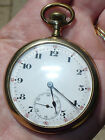 ANTIQUE 1904 SWISS TAVANNES GOLD FILLED POCKET WATCH 15 JEWELS 4 ADJ's WORKING