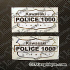 KZ1000 KAWASAKI CHP CALIFORNIA HIGHWAY PATROL MOTORCYCLE TANK ONE PAIR DECALS