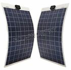 2x80Watt poly semi flexible Solar Panel160W battery charge portable Bike motorRV