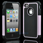 Silicone Robot Executive Armor Shock Proof Case Cover Skin for iPhone 4 4S Pink