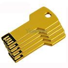 5 PCS USB 2.0 2G 2GB Metal Key Flash Memory Drive Thumb Design USB2.0 Yellow