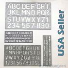 4 piece SET 1 1 8 Alphabet Letters  Numbers Stencils Plastic YOU CHOOSE COLOR