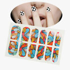 12pcs Nail Art Fashion Sticker Manicure Decoration Yellow White Red Blue