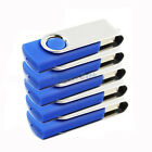 5 PCS USB 2.0 8G 8GB Flash Memory Drive Thumb Swivel Design 8 GB Blue