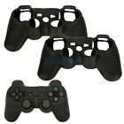 Lot 2 New Silicone Skin Cover Case for PlayStation 3 PS3 Controller Black