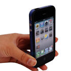 Dark Blue Hard Frame TPU Bumper Case Skin cove for Apple iPhone 4 4G 4GS 4S New