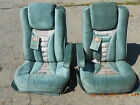 FLEXSTEEL LIGHT GREEN CLOTH CUSTOM VAN SEATS ARMREST LUMBAR RV CAMPER MOTORHOME