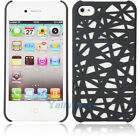 "Grey Hard Plastic Case for iPhone 4/4S Pierced Bird""s Nest Hollow-out Design"