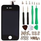 Black LCD Display Touch Digitizer Screen Assembly for Iphone 4 4G GSM + Screws