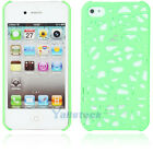 "Hot Bird""s Nest Style Plastic Hard Case Cover for iPhone 4 4G 4S Real Green"