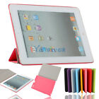 New Leather Smart Cover with Back Case Plastic for iPad 2 Pink