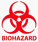 2 24 BIOHAZARD WARNING Decal Vinyl Sticker Logo  Label Pick SIZE  COLOR
