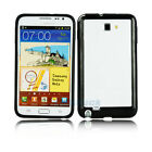 TPU Frame Case Cover for Samsung Galaxy Note i9220 Outside Black Inside Black