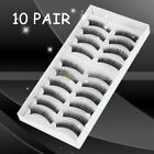 New 10 Pairs Black False Eyelashes Fake Makeup Eye Lash 1088