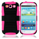 New Silicone/PC Case Cover with Stand/clip for Samsung Galaxy S3 i9300 Rose Red