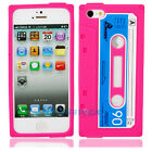 Hot Retro Cassette Tape Silicone Back Case Cover Skin for iPhone 5 5G Rose