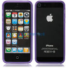 New Purple TPU Bumper Frame Case for iPhone 5 5G Apple Protector Case