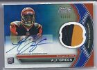 2011 Bowman Sterling BLUE REFRACTOR PATCH AUTO A J AJ Green RC BENGALS #d 99