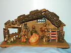 7 PC VINTAGE NATIVITY SET ITALY BABY JESUS MARY JOSEPH WISEMEN MANGER STABLE