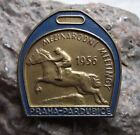 1956 Czech State Race Course Horse Racing Parbubice Steeple Chase Pin Badge