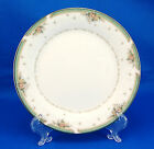 Noritake GREENBRIER 4101 Bread and Butter Plate 6.5 in. Pink Flowers Green Trim